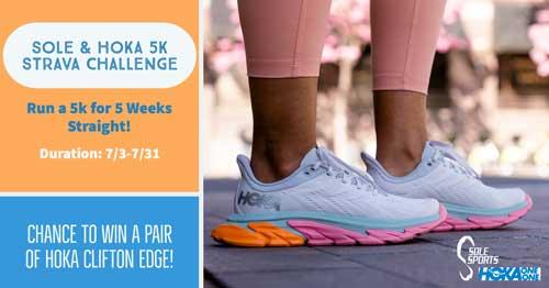 Sole & Hoka 5K Strava Challenge