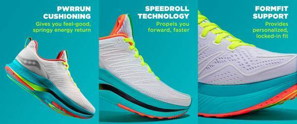 Saucony Endorphin Shift features