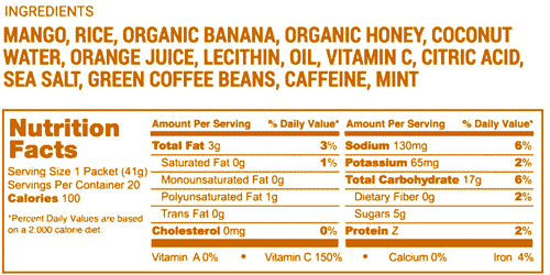 Hill Aid nutrition label